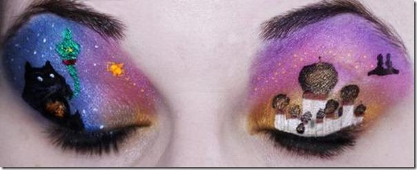 Linda maquiagem nos olhos em forma de sombra (5)