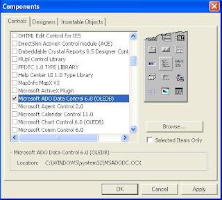 Fixing MSADODC OCX Not Registered / Missing Error