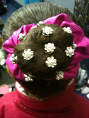 My daughters sparkly bun