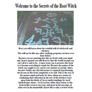 Welcome To The Secrets Of The Root Witch Cover