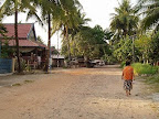 コンポンソムの街外れ-カンボジア