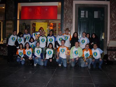 Quedada bloggera Bruselas 2009 con las camisetas del EBE