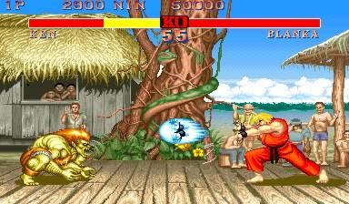 Street Fighter II - Ken vs Blanka