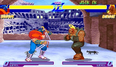 Street Fighter Alpha - Sodom vs Birdie