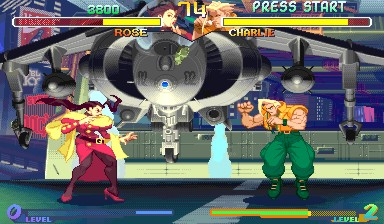 Street Fighter Alpha 2 - Rose vs Charlie