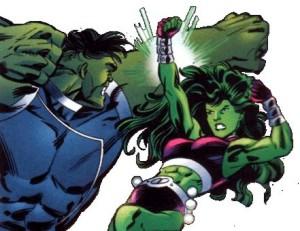 Hulk enfrenta a Mulher-Hulk