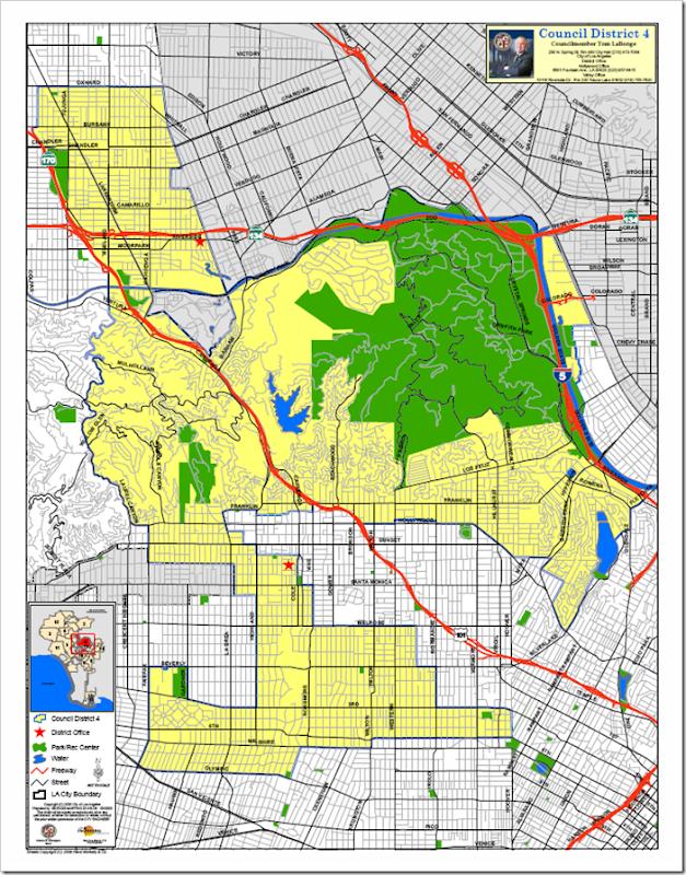 Los Angeles City Council District Map  Car Interior Design