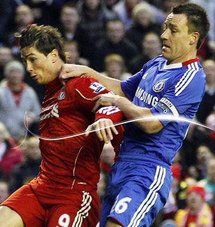 John Terry and Fernando Torres,Liverpool - Chelsea