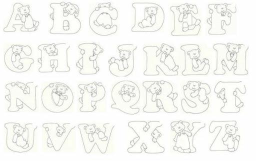 Molde de letras cursivas para imprimir imagui - Figuras decorativas grandes ...