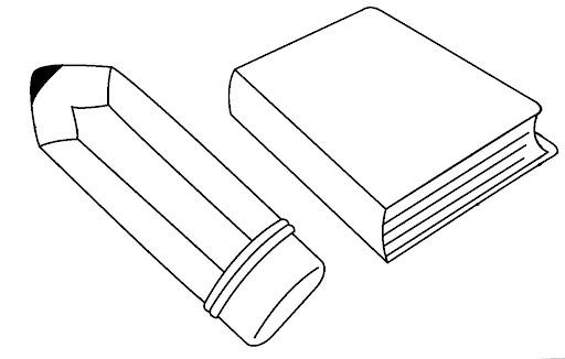 Dibujos para imprimir de herramientas escolares. - Imagui