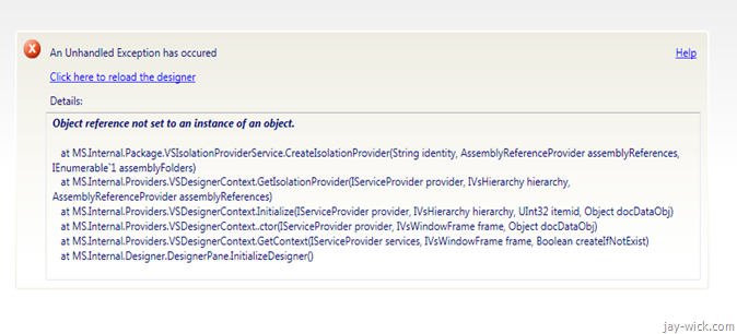 Epic Fail by Visual Studio