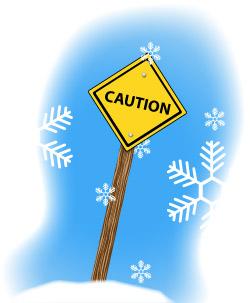 Caution Sign Portland Weather Hazards