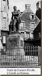 Statue de Dumont d'Urville  Cond sur Noireau