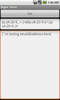 Screenshot of Regex Tester