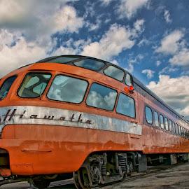 The Hiawatha by Luanne Bullard Everden - Transportation Trains ( clouds, hiawatha, windows, transportation, trains )