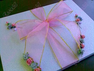 pink purple guest book 1