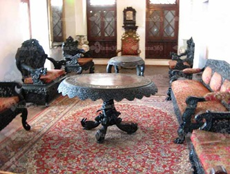 Indian furniture in Sultan's palace