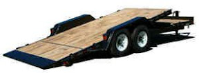 ROLLS RITE 17 FT TILT 5 FT STATIONARY TRAILER