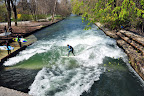 Nope, it's not the ocean. The Eisbach in Munich!