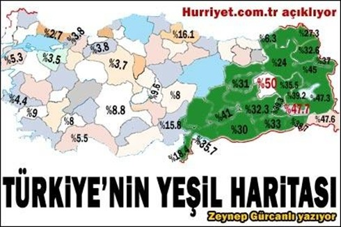 Turkiyedeki fakirlik haritasi