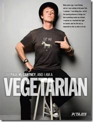 Paul MacCartney y su amor vegetariano