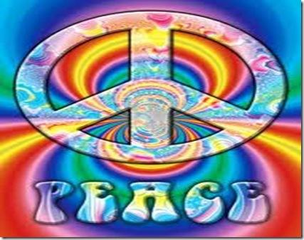 Peace Haz la paz y no la guerra