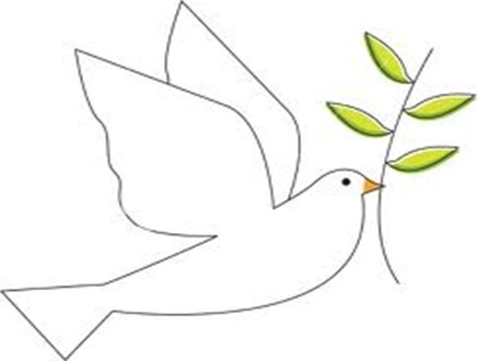 Simbolo de paz paloma olivo Haz la paz y no la guerra