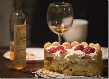 Twinky Cake with 2003 Chateau de Myrat-3