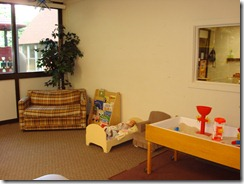 Reading Area and Sensory Table