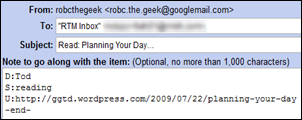 Google Reader Email Content