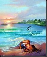 sonho na praia