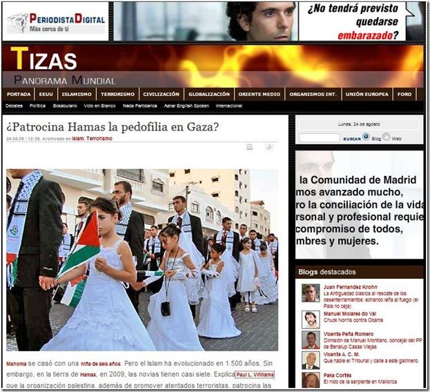 [Fail] casamiento de niñas era ¡mentira!, en Gaza