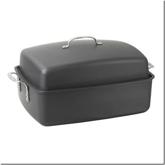 Covered Nonstick Roaster with Flat Rack and Cover