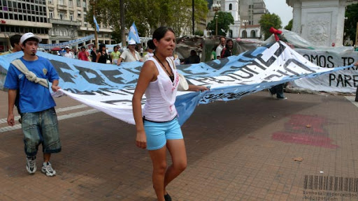 Running into public demonstrations is quite common in Buenos Aires, Argentina
