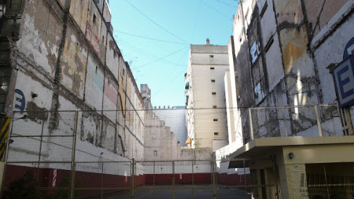 Vacant Lot in the city center of Buenos Aires used as Estacionamiento (parking lot)