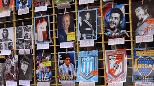 Che, Evita, Maradona - The icons and idols of Argentina. Found in Buenos Aires