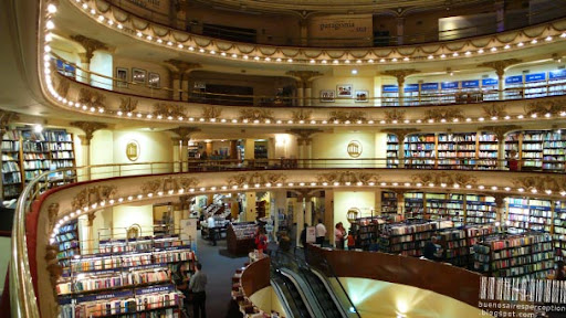 El Ateno Grand Splendid, a Unique Bookstore in the Avenida Santa Fe in Barrio Norte in Buenos Aires, Argentina
