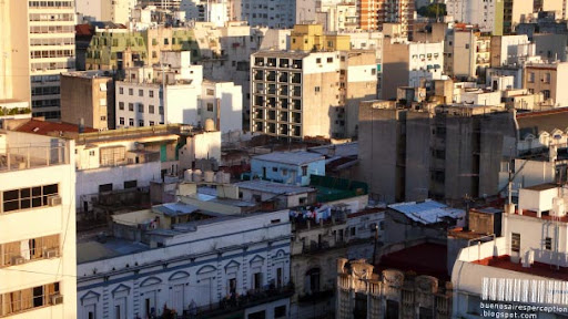 San Telmo Cityscape View over the White City Buenos_Aires, Argentina