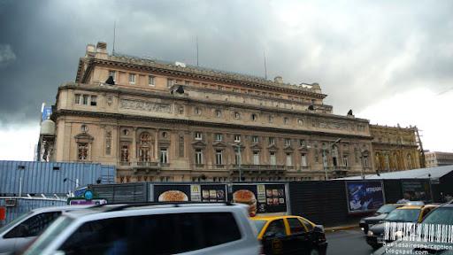 Teatro Colón Seen From Avenida Libertidad in Buenos Aires, Argentina
