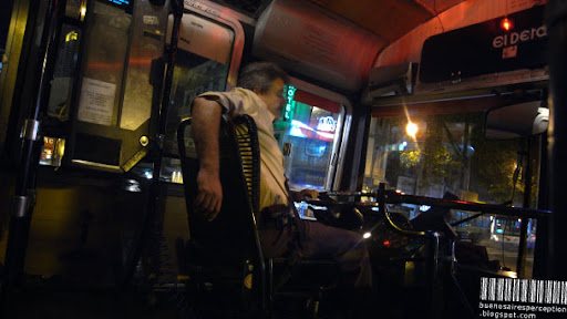 Riding Home in a Colectivo with an Eerie Relaxed Bus Driver through the Streets of Buenos Aires, Argentina
