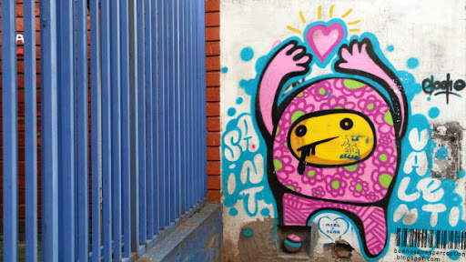 Saint Valentin Graffito by El Odio (lit. The Hatred) in Buenos Aires, Argentina