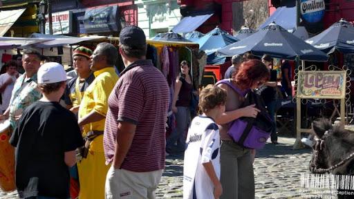 Arts and Crafts Street Market in El Caminito in La Boca, Buenos Aires, Argentina