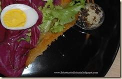 cestini di Parmigiano con uova di quaglia