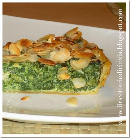 Torta salata spinaci e gorgonzola