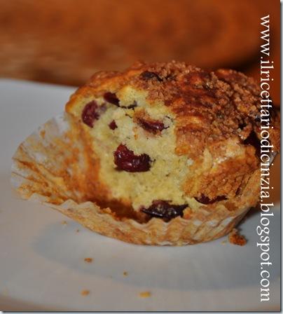 Muffin con mirtilli rossi secchi