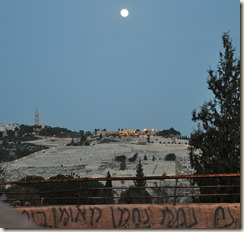View from Zion Gate overlooking Mt Olives
