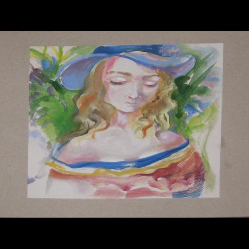 Галерия Картините: Момиче с шапка