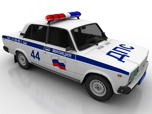 3D model of russian police car