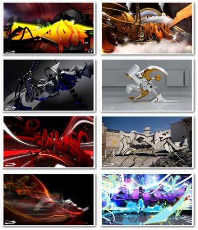 3d wallpaper graffiti. Wallpapers 3D Graffiti HD