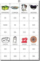 jogo das sílabas D